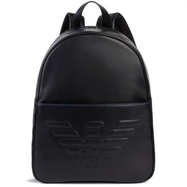 EA7 Emporio Armani Black PU Backpack Y4O163 YG90J