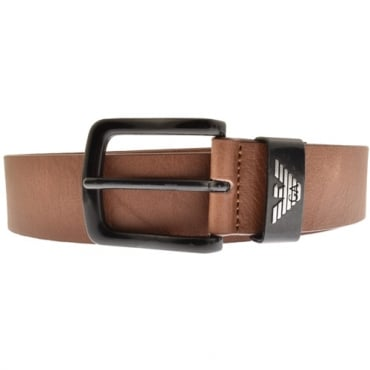 Emporio Armani Buckle Belt Brown Y4S201 YDD6X