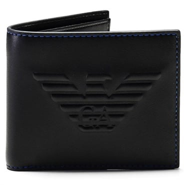 Emporio Armani Black Wallet PU Eco-Leather Y4R168 YG90J
