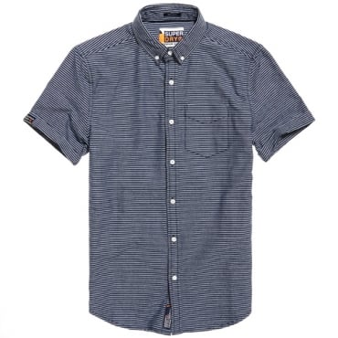 Superdry Academy Sails S/S Shirt Navy Stripe QN3