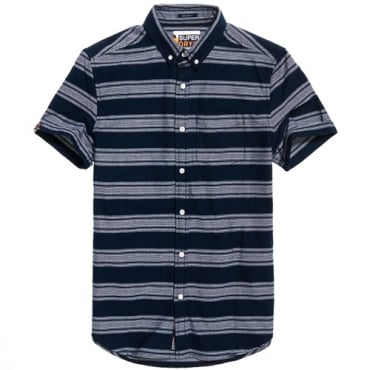 Superdry Academy Sails S/S Shirt Navy Stripe QB6