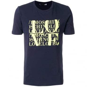 Love Moschino Navy Blue Logo T-Shirt M473171E1811
