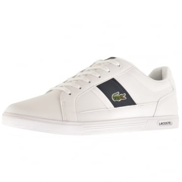 Lacoste Europa 118 White Navy Leather Trainers