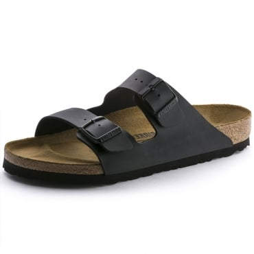 Birkenstock Arizona Birko-Flor Black Mule Sandals 0051793