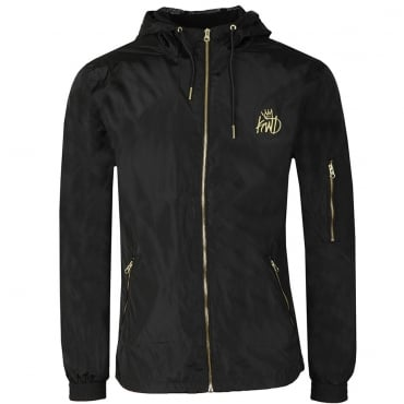 KWD Barnard Black Windbreaker Jacket