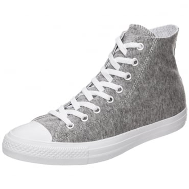 Converse All Star Grey Marl Jersey CTAS Hi Top Trainers 159635C