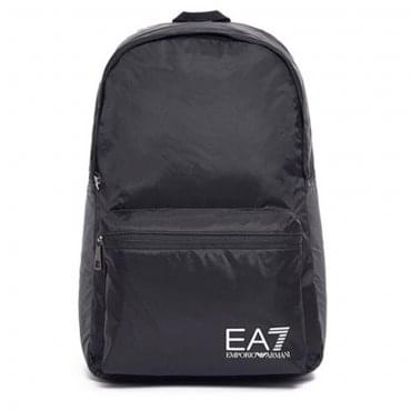 EA7 Emporio Armani Black Nylon Backpack 275659 CC731