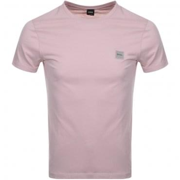 Boss Orange Tommi UK Plain T-Shirt Pink 681 50328440