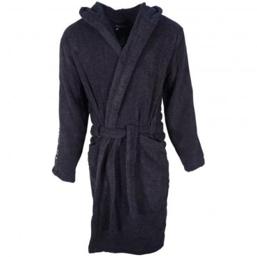 Emporio Armani Navy Cotton Towelling Dressing Gown Bath Robe 110799 8P591
