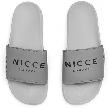 Nicce Joey Slides Grey Charcoal