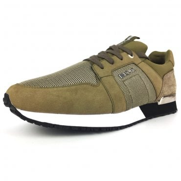 Bjorn Borg R700 Olive Green Mesh Mixed Trainers