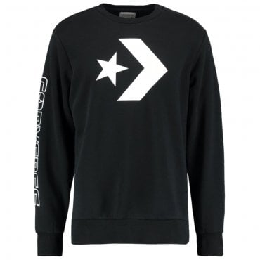 Converse Cons Logo Black Crew Neck Sweat 10006434