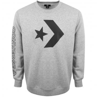 Converse Cons Logo Grey Crew Neck Sweat 10006434