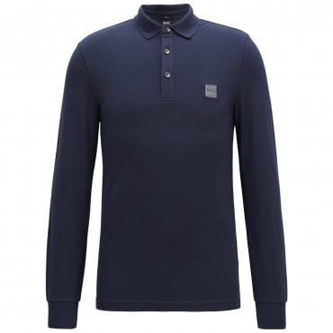 9f57347d Boss Orange Passerby Long Sleeve Polo Navy 404 50387465
