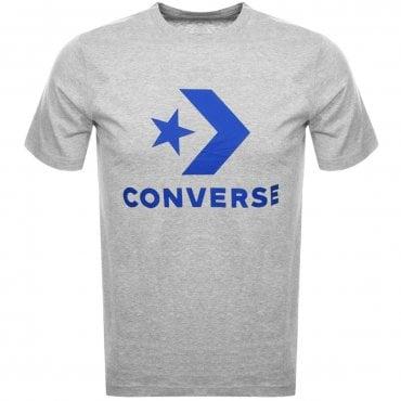 45188dc6d601 Converse Star Chevron Logo T-Shirt Grey 10007888