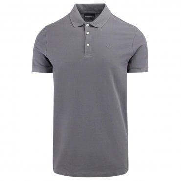 ea05656a Emporio Armani Dark Grey Stretch Short Sleeve Polo T-Shirt 8N1F12 1J0SZ Sale