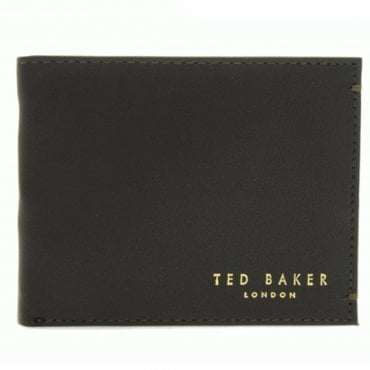 Ted Baker Harvys Brown Leather Bi-fold Wallet With Coin Pocket