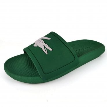 292cef09994988 Lacoste Croco Slide 119 Green Slide Sandals