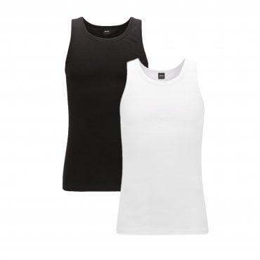 278fa42221f Hugo Boss 2 Pack Vests White   Black 50325406 Sale