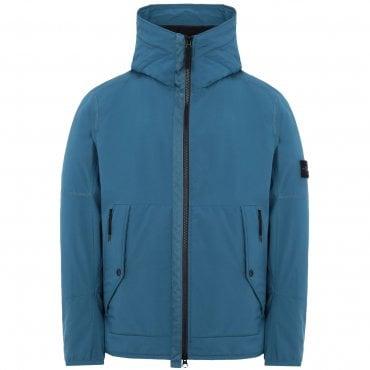 Stone Island Hooded Soft Shell-R Jacket Avio Blue V0024 41027 287ed0ffca06