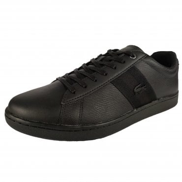 75dbff60a Lacoste Carnaby Evo Strap 119 Black Leather Trainers