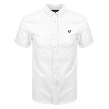 80cad18228 Lyle   Scott White Shirt Short Sleeve SW605VTR