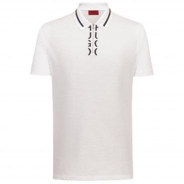 c713dc15 Hugo Boss Dolmar Zip Collar White Polo 50406731