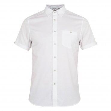 9637fc282d9f1 Ted Baker Wallabi SS Oxford Shirt White
