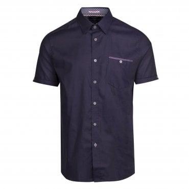 2b4324810af9c Ted Baker Wallabi SS Oxford Shirt Navy
