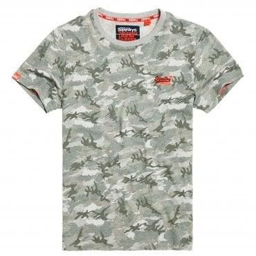 2640babfe Superdry Orange Label Small Logo Grey Camo T-Shirt D3U