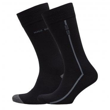 783aefb40 Hugo Boss 2 Pack Black Socks 50406444