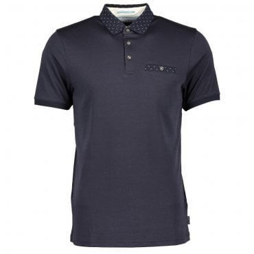 f523f759f9bc Ted Baker Critter SS Knit Collar Polo Shirt Navy