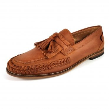 cc0e2fba6bde4 Hudson Alloa Cognac Leather Loafers Tan Brown
