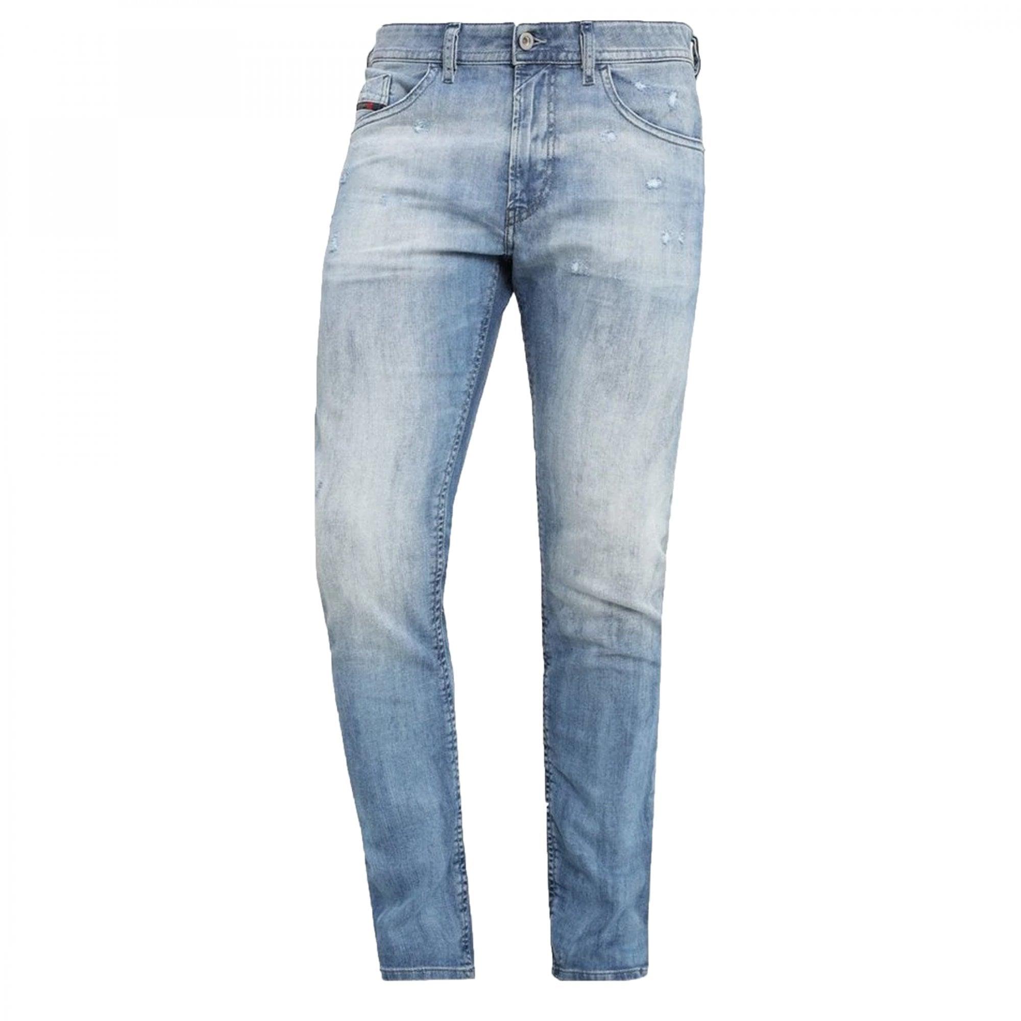 DIESEL thommer 081AS Slim-Skinny Fit Light Blue Jean Denim Jeans LIGHT MID
