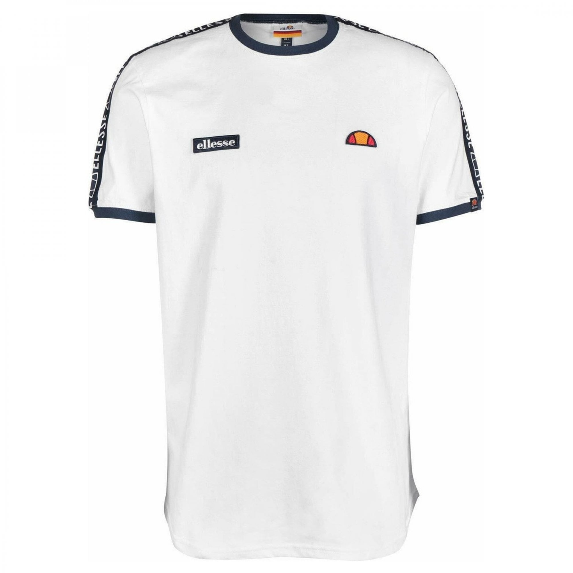 Ellesse Fede Taped T Shirt Orange
