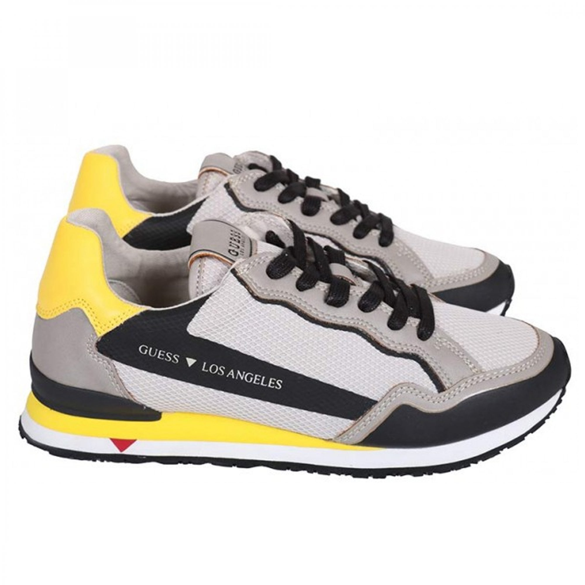 Guess Genova Navy Leather Runner Trainers FM6GENLEA12